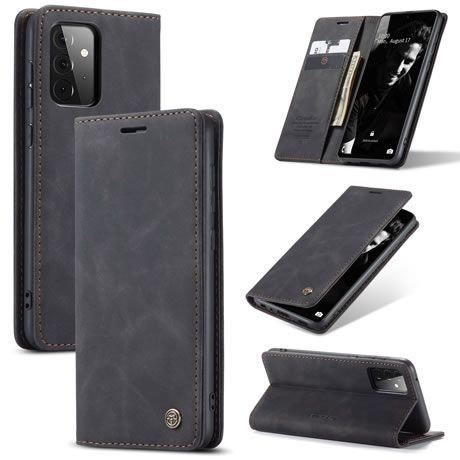 CaseMe, Samsung Galaxy A72 (5G), Wallet Case - Black