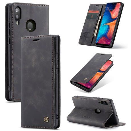 CaseMe, Samsung Galaxy A20E, Wallet Case - Black