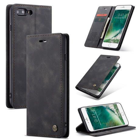 CaseMe, iPhone 6, 7, 8+ Plus, Wallet Case - Black