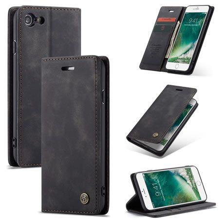CaseMe, iPhone 6 , 6S , 7 , 8 , SE 2020, Wallet Case - Black