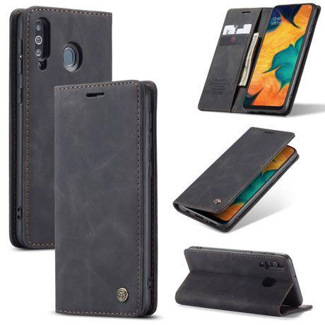 CaseMe, Samsung Galaxy A40S, Wallet Case - Black
