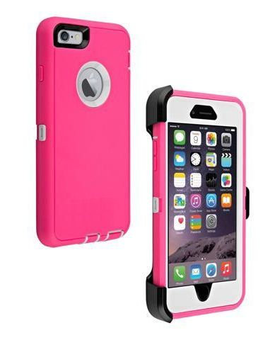 iPhone 6, 6S, 7, 8, SE 2020, Tough Case - Pink With Holder