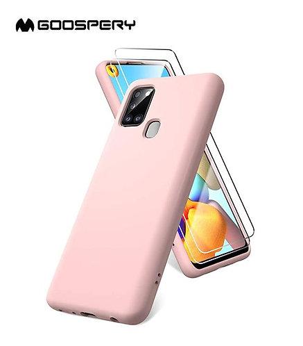 Goospery, Samsung Galaxy A21S (A217), Liquid Silicone Case - Pink Sand