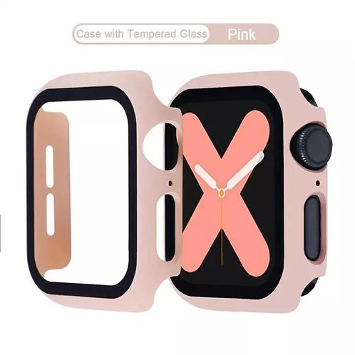 Bumper Case & Screen Protector for Apple iWatch Series S2, S3, 42MM - Pink