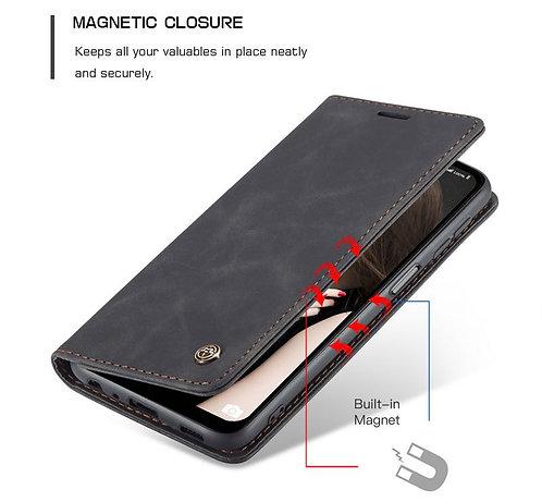 CaseMe, Samsung Galaxy A12, Wallet Case - Black