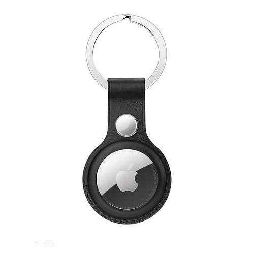 Leather Key Ring for Apple AirTag - Black