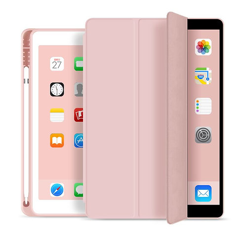Goospery, iPad Pro, iPad Air, 10.5 Trifold & Stand Case, Magnetic Door, Pen Hold