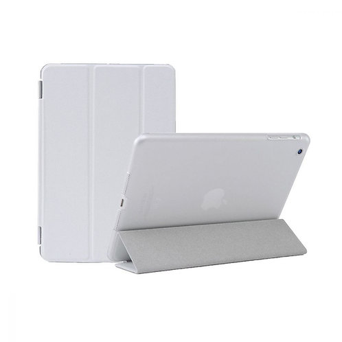 iPad Mini 4,5 Classic Case, 7.9, Transparent Back & Leather - White