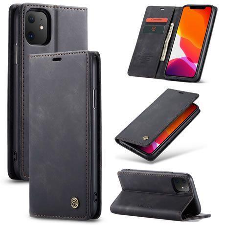 CaseMe, iPhone 12 , 12 Pro, 6.1, Wallet Case - Black