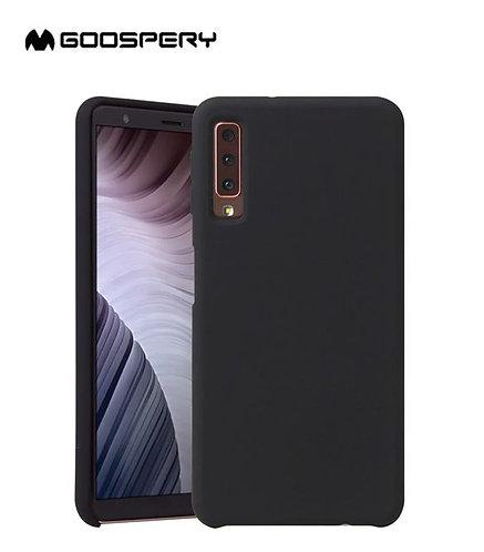 Goospery, Samsung Galaxy A7 (A750) 2018, Liquid Silicone Case - Black