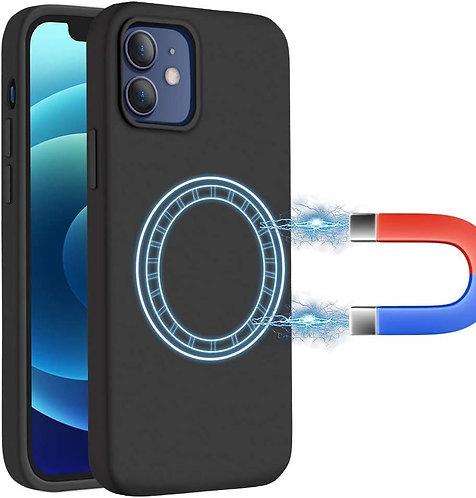 Laudtec, iPhone 12 Pro Max, Liquid Silicone MagSafe Case - Black