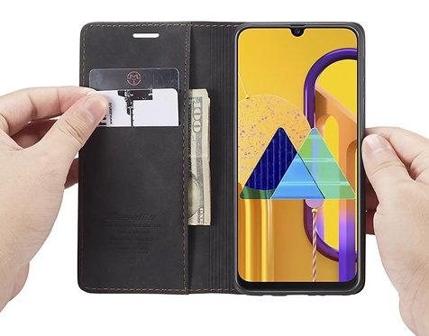 CaseMe, Samsung Galaxy M30S / M21, Wallet Case - Black