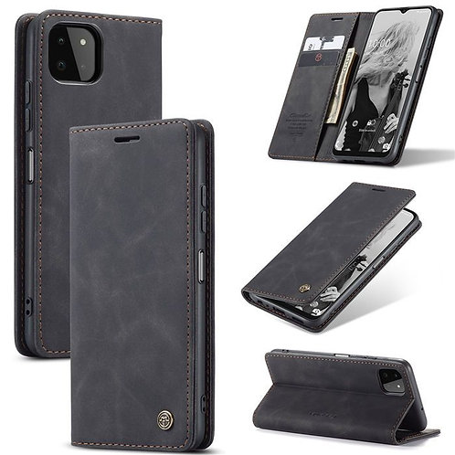 CaseMe, Samsung Galaxy A22 (5G), Wallet Case - Black