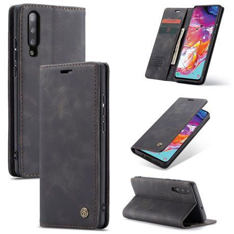 CaseMe, Samsung Galaxy A70, Wallet Case - Black