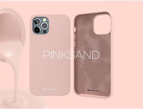Goospery, iPhone 12 Pro MAX, Liquid Silicone Case - Pink Sand