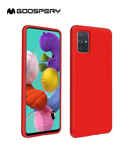 Goospery, Samsung Galaxy A51 (A515), Liquid Silicone Case - Red