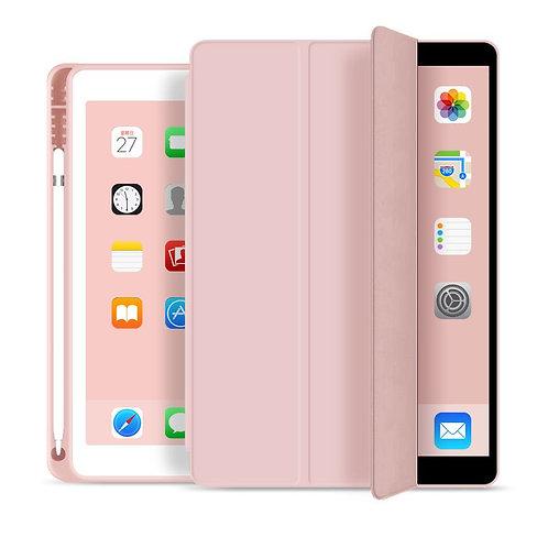 Goospery, iPad Pro, 9.7 Trifold & Stand Case, Magnetic Door, Pen Holder - Pink