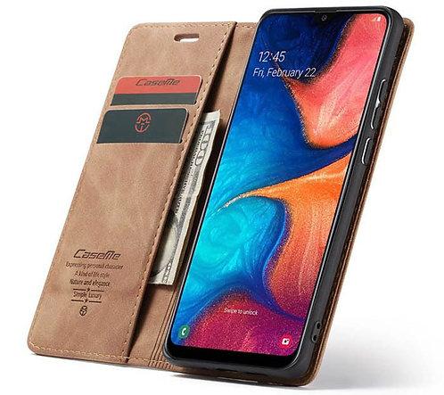 CaseMe, Samsung Galaxy A20E, Wallet Case - Brown