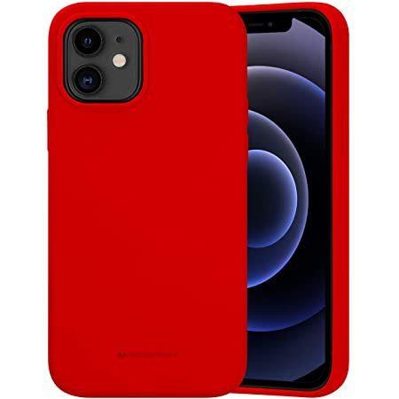"""Goospery, iPhone 12 Pro MAX, 6.7"""", Liquid Silicone Case - Red"""