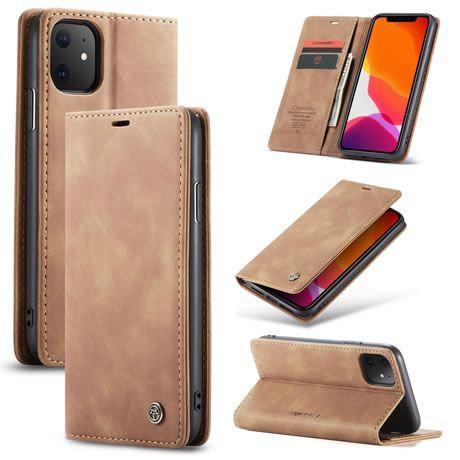 CaseMe, iPhone 11, Wallet Case - Brown