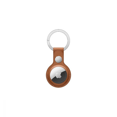 Leather Key Ring for Apple AirTag - Brown