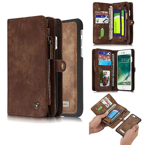 CaseMe, iPhone 6, 6S, 7 , 8 , SE 2020, Detachable 2 in 1, Zipper Wallet Case