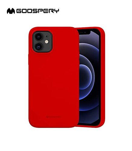 Goospery, iPhone 12, 12 Pro, 6.1, Liquid Silicone Case - Red