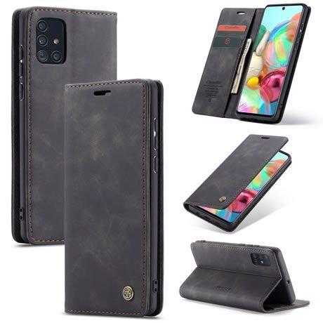 CaseMe, Samsung Galaxy A71, Wallet Case - Black