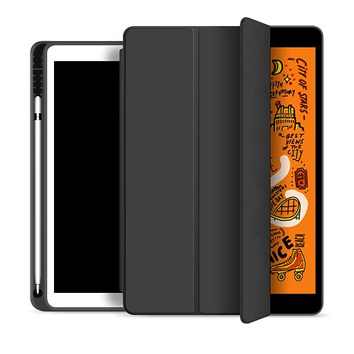 Goospery, iPad Pro, 9.7 Trifold & Stand Case, Magnetic Door, Pen Holder - Black