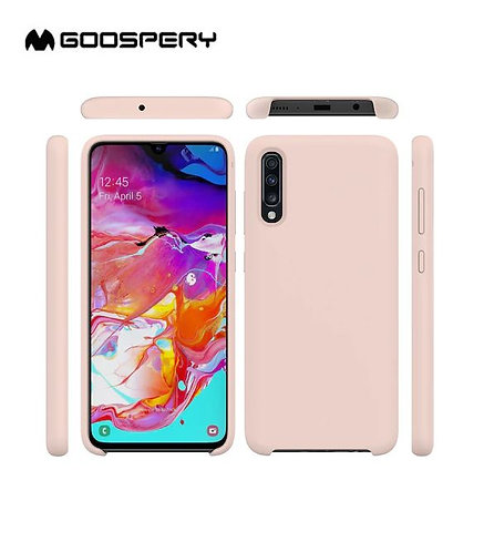 Goospery, Samsung Galaxy A70 (A705), Liquid Silicone Case - Pink Sand