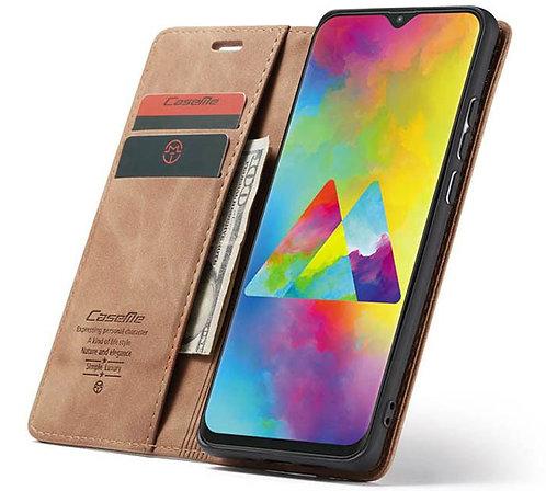 CaseMe, Samsung Galaxy A10, Wallet Case - Brown
