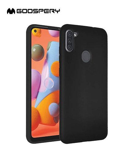 Goospery, Samsung Galaxy A11 (A115), Liquid Silicone Case - Black