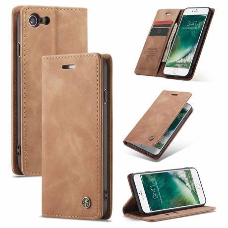 CaseMe, iPhone 6, 6S, 7, 8, SE 2020, Wallet Case - Brown