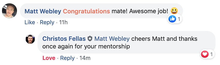 Matt Webley Congratulations mate! Awesom