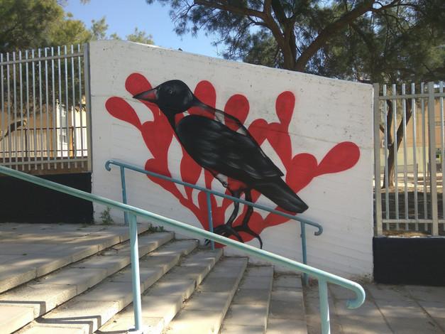 ציר אמנות רחוב בשכונת יעלים
