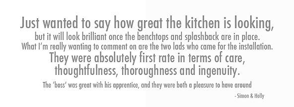 Testimonial for Central Kitchens - Simon and Holly