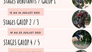 Stages de juillet 2021