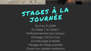Stages - Juillet 2020