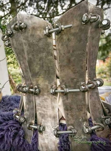 Wearable steel corset