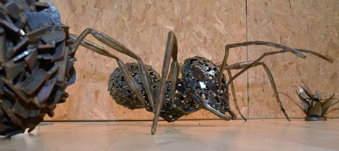 Steel ant sculpture