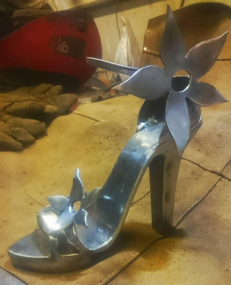 Steel high heel