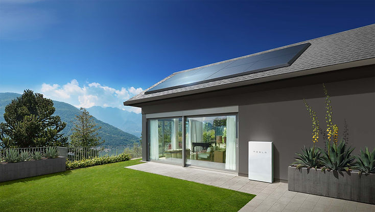 Tesla Powerwall paired with solar on home