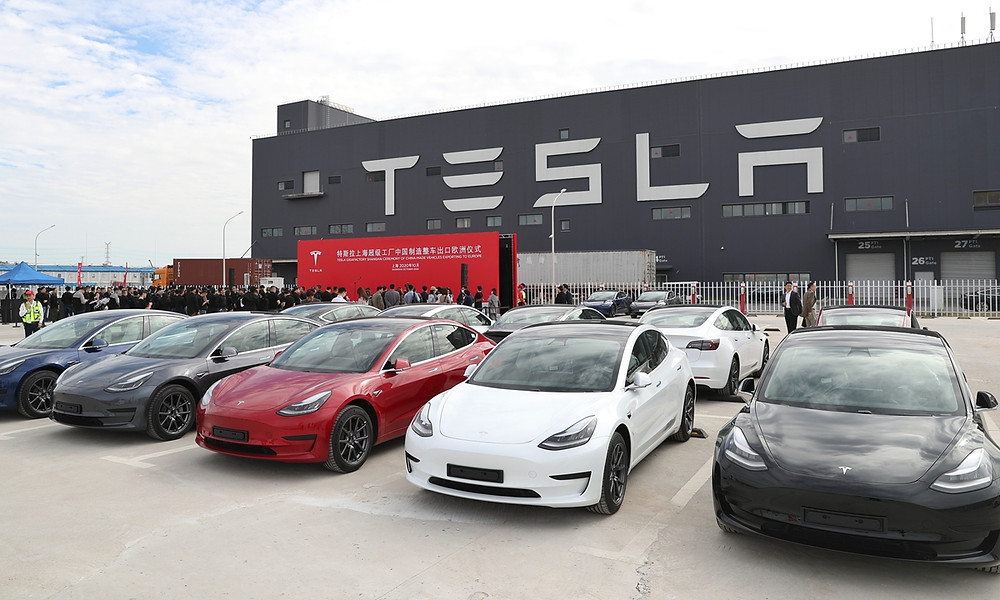 Tesla Electric Vehicles China Factory