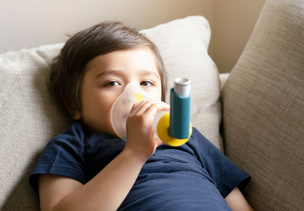 Child asthma due to carbon emissions