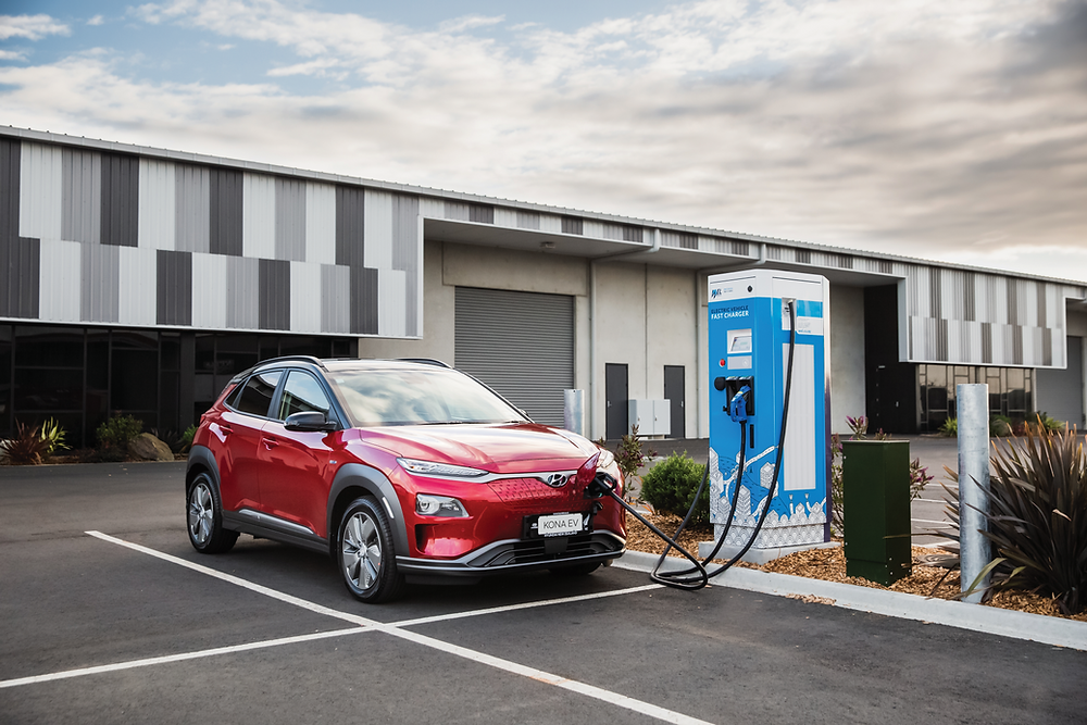 Electric vehicle charging at public charging station