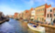 ライデン 運河 ボート