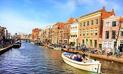ライデン,運河,ボート,オランダ,シーボルト