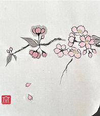 Ink painting Sakura