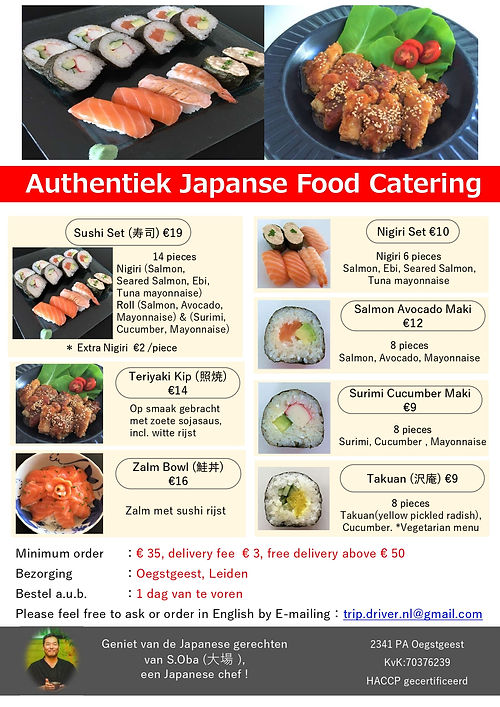 Japanese Food Catering Flyer