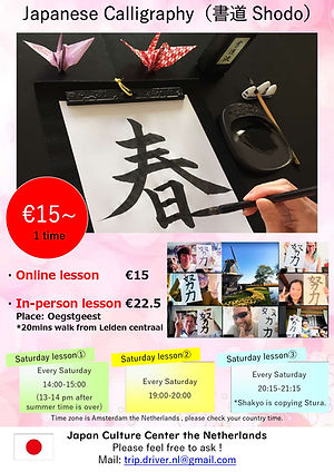 Japanese Calligraphy Lesson Flyer (Onlin